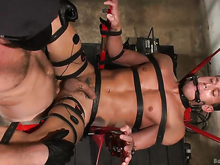 bound gay hunk gets
