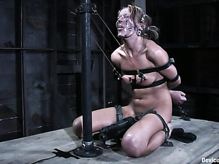 freaky blonde woman bondage