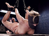 Horny blonde pornstar with big tits gets hogtied so well