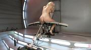 blonde slut gets aroused