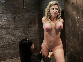 tied slut with large