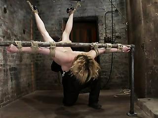 wild blonde pornstar bondage