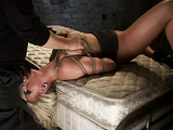 Busty blondie MILF in bondage will blow your mind for sure