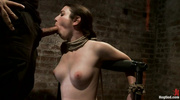 gagged and bound brunette