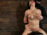 Bound and gagged honey wants some rough sex right now