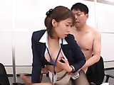 Mischievous Japanese office girl likes to draw attention of her office guys