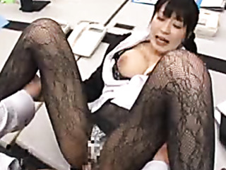 frisky japanese office chick