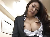 Sexy office chick masturbates for your boner
