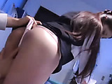 Boss lures secretary and opens her legs wide open and enjoys some pussy licking