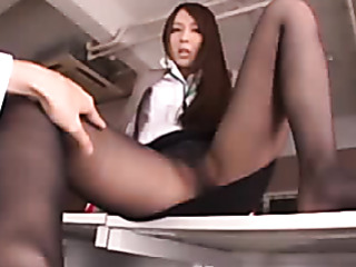 long haired girl spreads