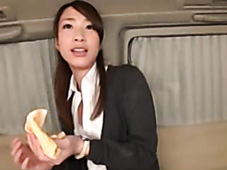 alluring asian office chick