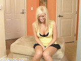 insanely hot blonde gets naked and pounds her beautiful slit