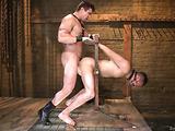Two nasty gay dudes having a rough bondage fucking session