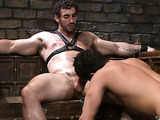 Two horny gay hunks are into rimming and assfucking