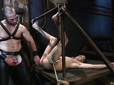 Young gay dude gets tied up, gagged and fucked so hard