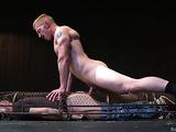 Caged gay hunk gets nailed so hard by his partner