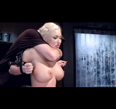 Busty blonde porn star gets tied up and used by her man