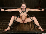 Long haired blonde whore gets gagged and toyed so well