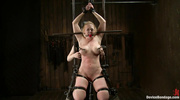 busty blonde woman bondage
