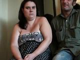 BBW brunette gets her fat pussy slammed on camera by her boyfriend