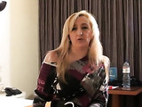 Sophisticated blonde in knee high boots gets railed from behind