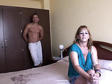 Horny single mom has her pussy stuffed by muscled dude