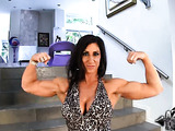 Muscle slut knows you like her hard body and fucks herself for you