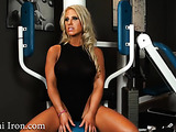 Interview time for tall blonde fitness model who swallows cum for protien