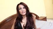 pervert brunette black lingerie