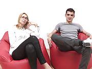 husband watches his slim