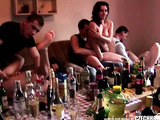 Euro honeys just want many dicks at this group sex session