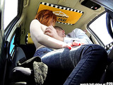 Redhead teen slut gets rammed hard by a taxi driver