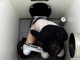 Dark haired slut takes a piss in a POV scene