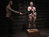 Gay hunk in leather fucks his pretty slave with passion