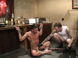 Inked master fucks his tied up slave with so much joy