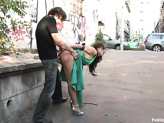 brunette teen whore green