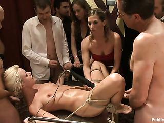 blonde pornstar gets tied