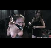 Two luscious porn superstars enjoying in a freaky bondage scene