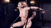 tattooed blonde gets tied