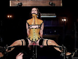 Pig tailed little slut gets bound and gagged by her man