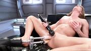 brunette babe masturbates with