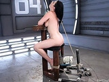 Tied up and gagged lady needs sex machines for her pleasure