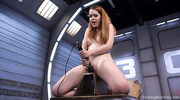 ginger babe with large