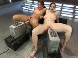 Two hotties are ready for toying session in the basement