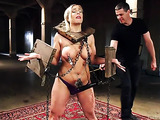 Busty blonde gal gets assfucked by a well hung stud