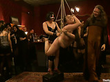 Porn sluts in bondage are ready for group sex session