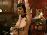 two cute ladies bondage