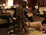 Super hot interracial bondage session with cock hungry sluts