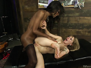 black chick with large