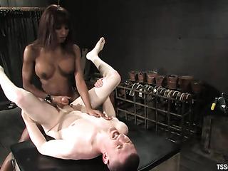 slender black t-girl fucks